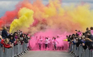 Fire Depot support St Barnabas colour dash event