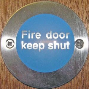 Fire door sign 2
