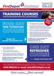 FIRE DEPOT ACADEMY AUTUMN 2018 TRAINING COURSES ANNOUNCED