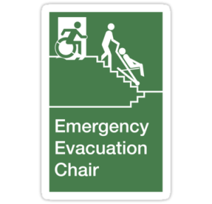 Evacuation Chairs provide a safe emergency exit