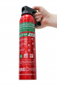 World's first extinguisher for Lithium Ion battery fires launched