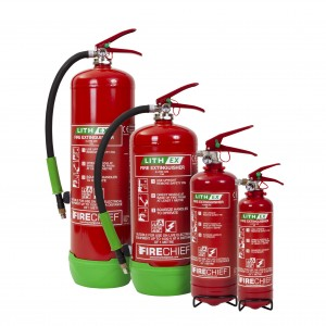 The Firechief Lith-Ex Fire Extinguisher Range is Perfect for Commercial Premises!