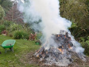 Garden and outdoor fires are 'a cause for concern'