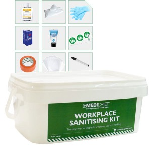 Keep safe on site with our handy Workplace Sanitising Kit!
