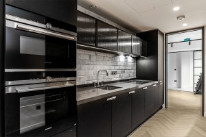 Firechief Kitchen Stove Guard smart fire prevention system installed in luxury apartments