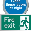 Metal Effect Fire Safety Signs