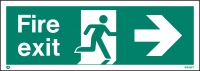 White Fire Exit Signs