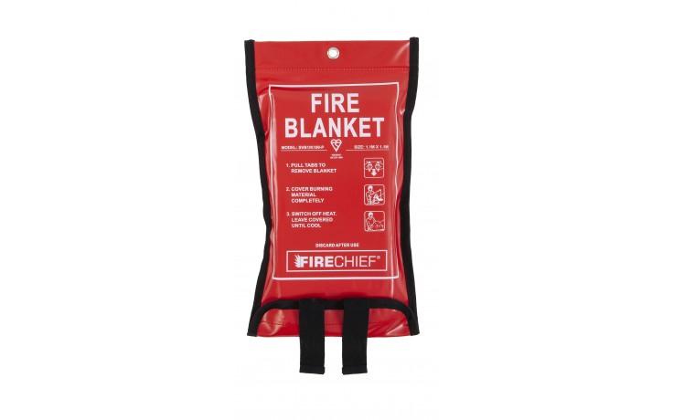 1.1m x 1.1m Firechief Soft Case Fire Blanket (SVB1/K100-P)