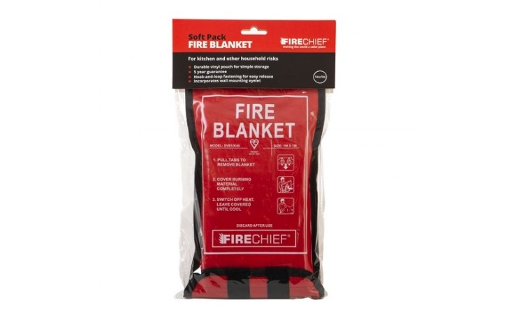 1 X 1M Firechief Fire Blanket Soft Case Retail Packaged