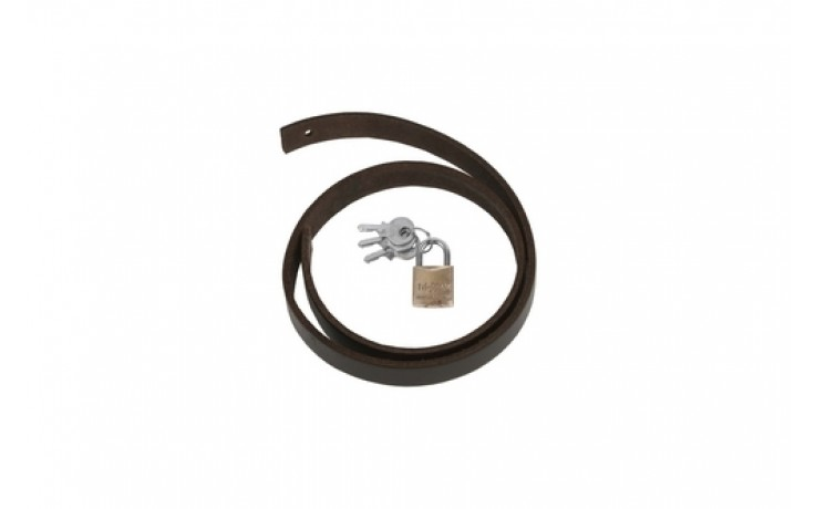 Brass Padlock 20mm Keyed Alike c/w Leather Strap LHS2