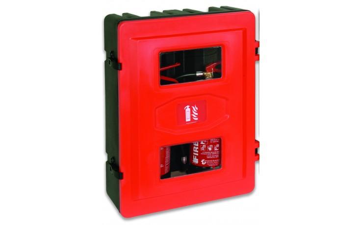 Double extinguisher cabinet