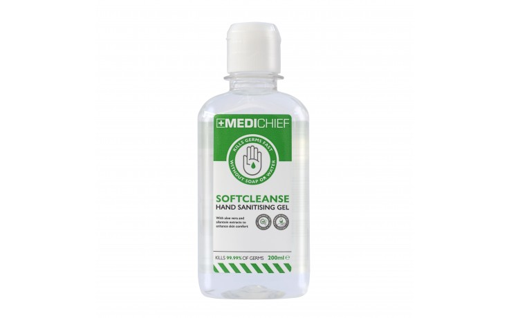 SoftCleanse Hand Sanitising Gel – 200ml – Pack of 5