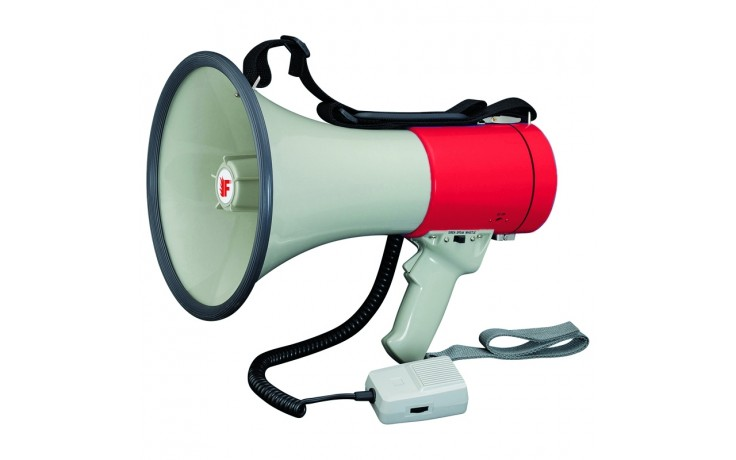 Megaphone with separated microphone