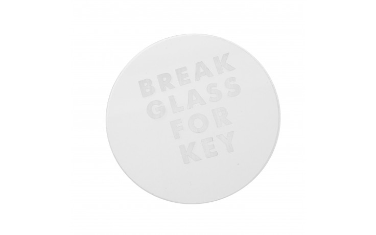 Spare keybox glass