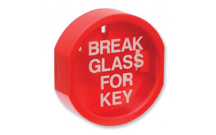 Plastic fronted 'break glass' keybox