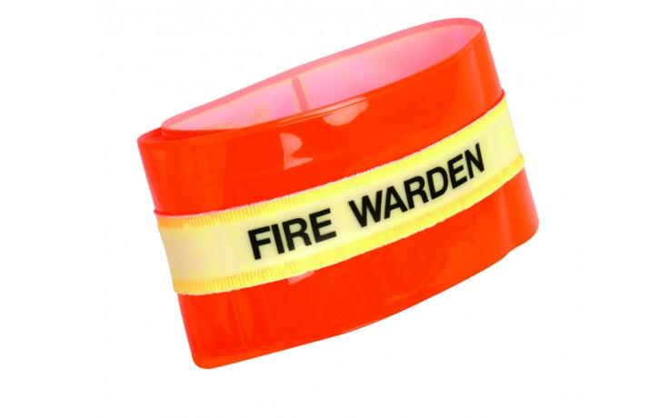 Photoluminescent fire warden arm band
