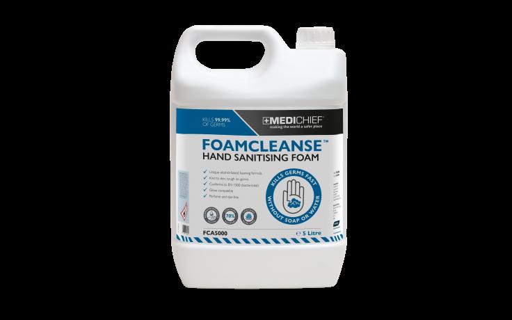 Medichief Foamcleanse Hand Sanitising Foam - 5 Litres