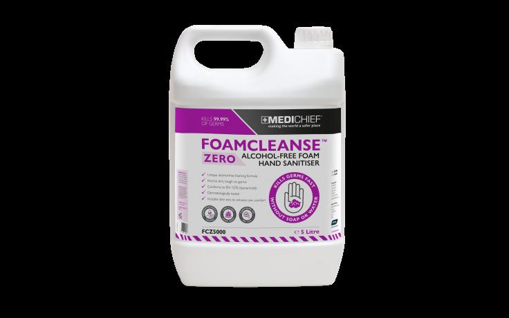 Medichief Foamcleanse Zero Hand Sanitising Foam - 5 Litre