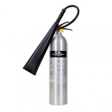 Firechief 5kg CO2 Brushed Alloy Extinguisher