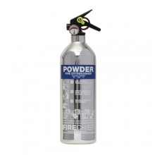 Chrome 1818 Polished 1Kg Powder Extinguisher