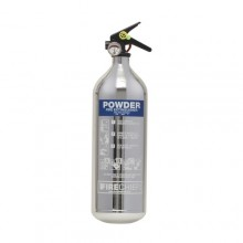 Chrome 1818 Polished 2Kg Powder Extinguisher
