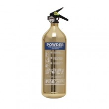 Gold 1818 Polished 2Kg Powder Extinguisher