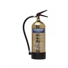 Gold 1818 Polished 6Kg Powder Extinguisher
