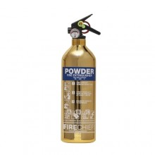 Gold 1818 Polished 1Kg Powder Extinguisher