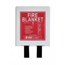 1 x 1m Firechief Fire Blanket Rigid Case White