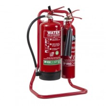 Firechief Tubular Double Stand - Red