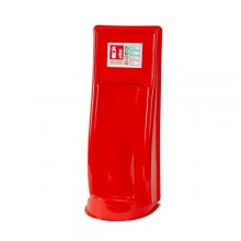 Vacuum formed single fire extinguisher stand
