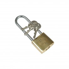 Brass Padlock - 40 mm, Long Shackle