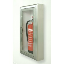 Firechief Arc Single Cabinet - Stainless Steel Semi-Recessed Extinguisher Cabinet