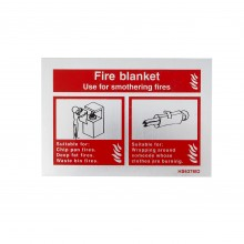 Sign Fire Blanket, Brushed Aluminium