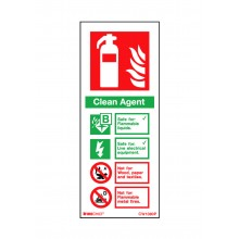 Clean Agent Sign White 200 x 80