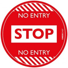 Medichief Floor Vinyl - Stop No Entry - Red - 30cm