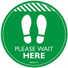 Medichief Floor Vinyls - Please Wait Here - Green - 30cm