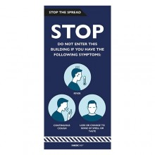 Medichief Stop The Spread Sign - Stop If You Have Symptoms