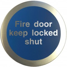 Aluminium Fire door keep locked shut disc