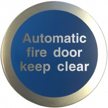 Aluminium Automatic fire door keep clear disc