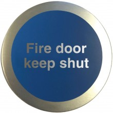 Aluminium Fire door keep shut disc.
