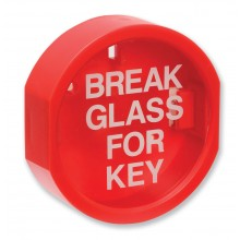 Plastic fronted 'break glass' keybox