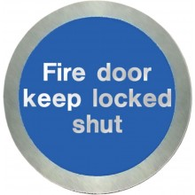 Stainless steel Fire door keep locked shut disc