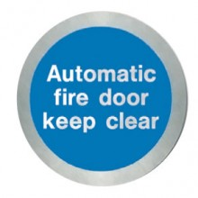 Stainless steel Automatic fire door keep clear disc