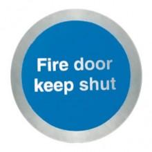 Stainless steel Fire door keep shut disc.