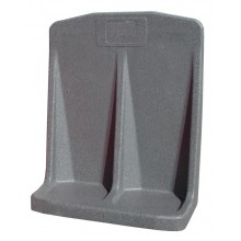 Double grey flat base fire extinguisher stand