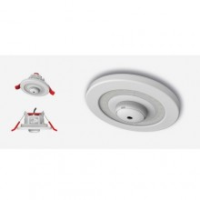 Lumi-Plugin White LP120 downlight with 40mm CO alarm - 2700k
