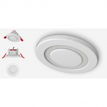 Lumi-Plugin White LP120 downlight, with standard white cap/semi concealed cap and concealed cap- 2700k