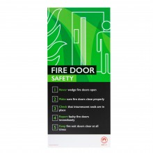 Fire Safety Assured Information Sign- Fire Door Safety