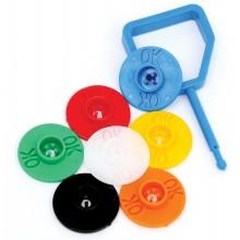 Firechief plastic pin and OK indicator